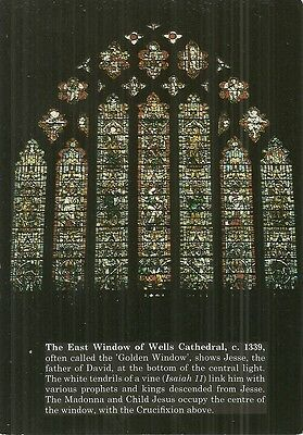Stained Window - East Window, Wells Cathedral, Somerset.