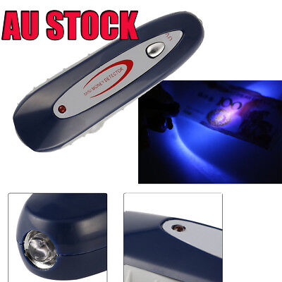 2 in 1 Mini Counterfeit Money Detector UV Tester Dollar Bill Cash Fake Currency