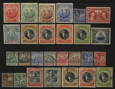 Barbados Collection 27 Early Stamps Used / Unused Mounted