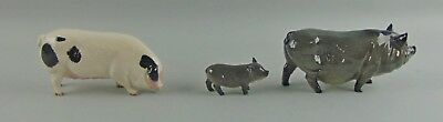Set of 3 Royal Doulton PIGS Figurines Old Spot & Vietnamese Pot Belly Pigs Large