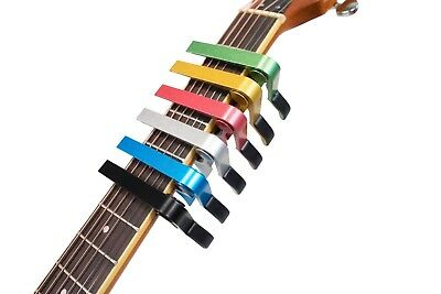 Premium Quality Guitar Capo Quick Easy Change Release Trigger Clamp Colour UK