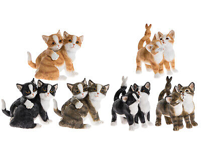 Pair of Cats Kittens Ornament by Leonardo, Cat / Kitten Figurine - Colour Choice