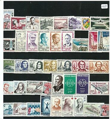 Timbres De France Annee Complete 1959 Neuf Luxe **