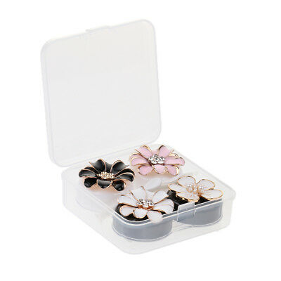 2 x Outdoor Travel Contact Lens Soaking Case Storage Box Container Holder