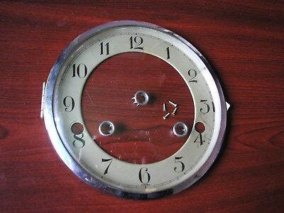 Chrome Bezel + Chapter Ring German Mantle Clock
