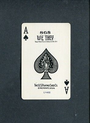 SPADE ACE: U.S. Playing Card Co. WE THEY.- 1 Single Swap / Playing Card