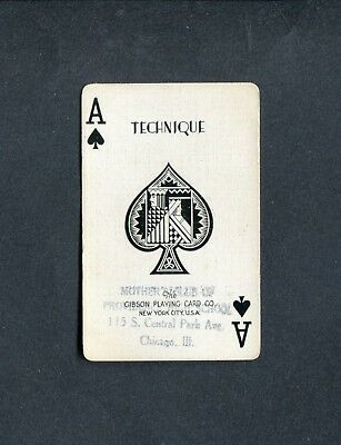 SPADE ACE: Gibson Playing Card Co. TECHNIQUE** - 1 Single Swap / Playing Card