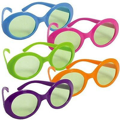 COLORED GLASSES 70's Style Glasses come in an assorted package of ten