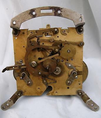 Vintage Smiths England K6A Brass Mechanical Clock Movement For Spares Or Repair