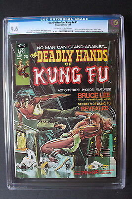 Deadly Hands of Kung-Fu #1 Starlin SHANG-CHI 1974 Bruce Lee ADAMS Movie! CGC 9.6