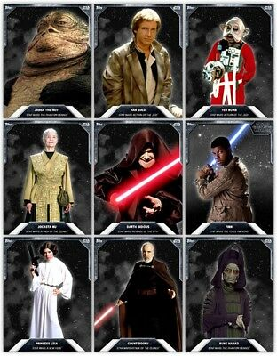 Topps Star Wars Digital Card Trader White Base Series 3. 9 Cards As Seen