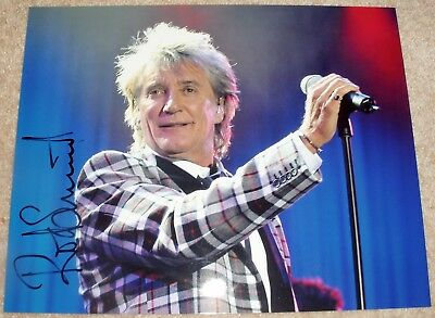 ROD STEWART - THE FACES - ORIGINAL HAND SIGNED 12 x 8 PHOTO + LOA