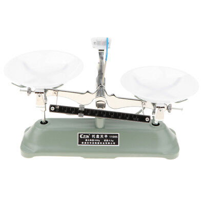 500 Gram Table Mechanical Balance Scale with 7 Weights School Teaching Tool
