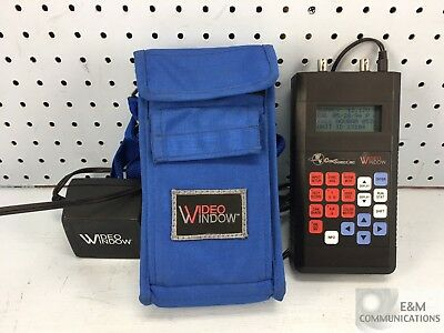 100554-001 Comsonics Video Window Catv Cable Signal Level Meter With Case