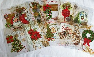 Anna Griffin Christmas Acetate Card Making Festive Classic Designs Set of 12
