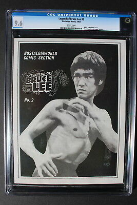 LEGEND OF BRUCE LEE #2 Photo cover 1983 B&W Nostalgia Comic Magazine CGC NM+ 9.6