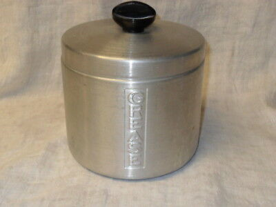 Vintage Kitchen GREASE Canister PURE ALUMINUM Japan Clean No Strainer