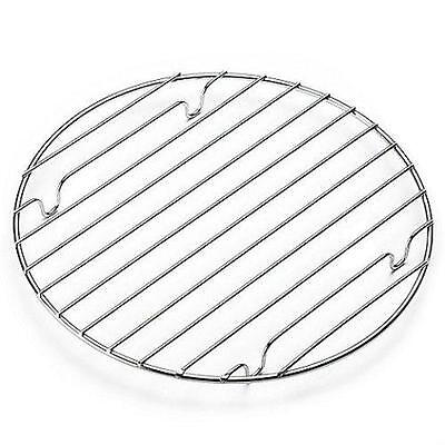 25Cm Chrome Round Cooling Rack Baking Oven Cooking Cake Muffin Pie Flan Bakeware