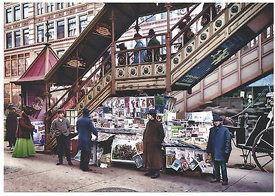 BEST 1917 WWI Herald Square Newsstand Subway New York City NYC Modern Post Card