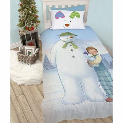 Official Snowman And The Snowdog Single Duvet Cover Bedding Set