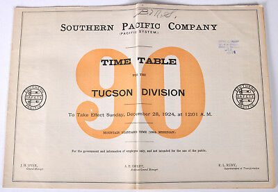 PDF File - Dec 28 1924 Southern Pacific Company #90 Employee Railroad Timetable