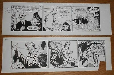 1967 Original Vintage Comic Art by Winslow Mortimer 2 Daily Strips Larry Bannon