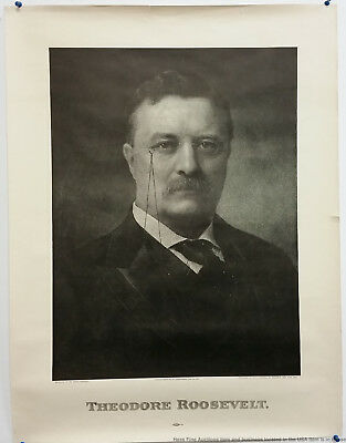 Antique 1904 Political Campaign Posters Roosevelt Fairbanks Republican Lot of 4
