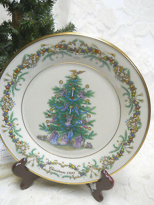 Lenox 1997 Italy Christmas Trees Around the World Plate-Limited Edition w/Box