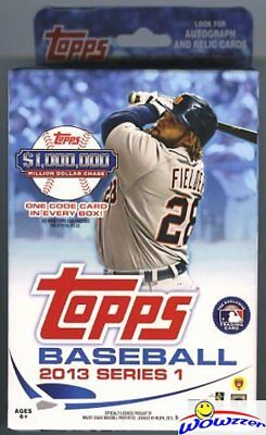 2013 Topps Series 1 Baseball EXCLUSIVE Factory Sealed Hanger Box+CODE Card!!