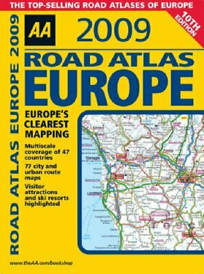 AA Road Atlas Europe (AA Atlases and Maps) by AA Publishing Spiral bound Book