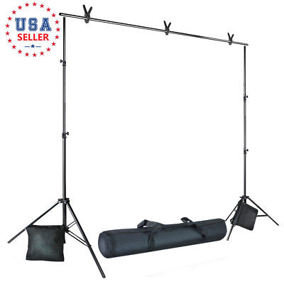 10 ft. Photography Background Muslin Support Kit 7.4' Photo Studio Stand