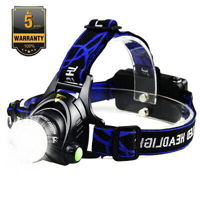 High Bright 50000lm LED Headlamp XM-L T6 Head Light Flashlights Head Torch AAA