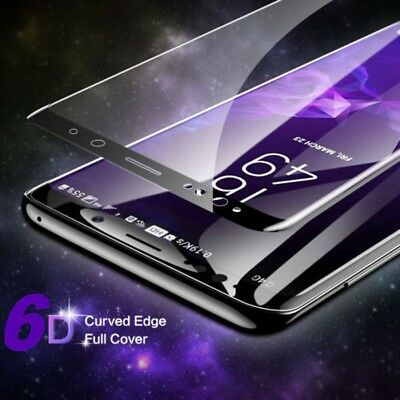 For Samsung Galaxy Note 9 S9 Plus 6D Full Curved Tempered Glass Screen Protector