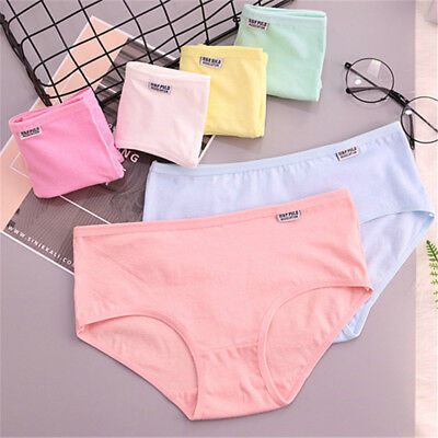 Women's Cotton Breathable Underwear Stretchy Briefs Panties Knickers Underpants