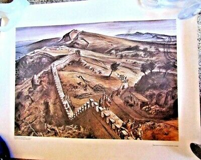 "MAP PRINT "" GREAT WALL of CHINA "" ALAN SORRELL 1959"