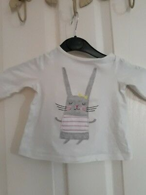 joules baby girl rabbit T-shirt age 3 to 6 months