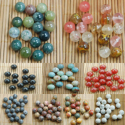 Natural 4-10mm Round Gemstone Chips Loose Beads For Jewelry Making DIY Stone