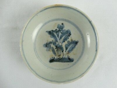 Antique Chinese Ming Dynasty 16th Century Blue & White Shallow Bowl China