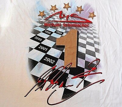 Michael Schumacher MSM Collection Tee Shirt XL 5 Times Champion Official Product