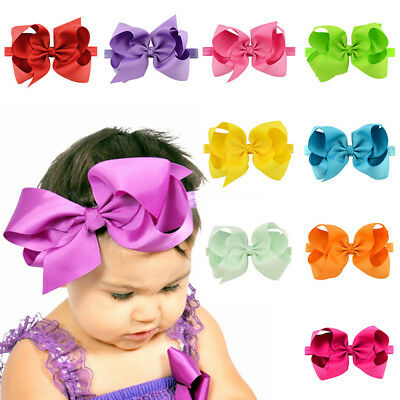 Lovely Baby Kids Girl Headband 6 inches Bow Tie Hair Band Headwear Accessories