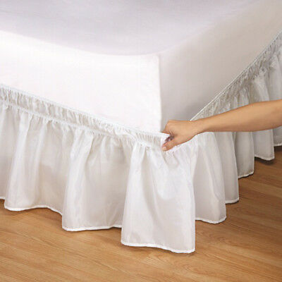 Solid Elastic Bed Skirt Unique Hollow Ruffle Bed Cover Twin Full Queen King Size