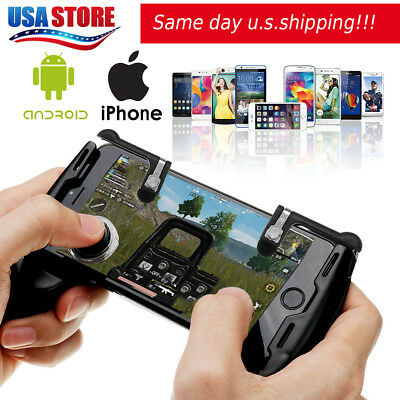 Gaming Joystick Handle Holder Controller Mobile Phone+Shooter For PUBG CW