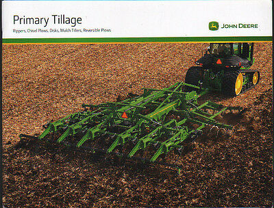 John Deere Primary Tillage Tractor Cultivation Equipment Brochure Leaflet