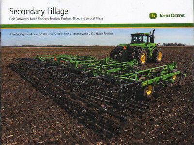 John Deere Secondary Tillage Tractor Equipment Brochure Leaflet