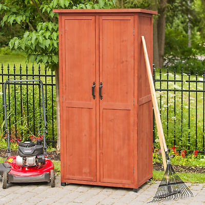 Leisure Season 3 ft. W x 2 ft. D Solid Wood Vertical Tool Shed