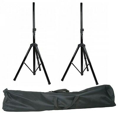 2 X PA Stand High Quality Speaker Tripod Stands kit with Bag Stands DJ Disco