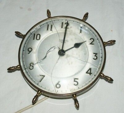 Vintage SMITHS (SECTRIC) Electric Wall Clock, Spares/Repairs