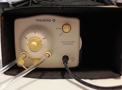 Medela Personal Electric Double Breast Pump In Canvas Carry Bag