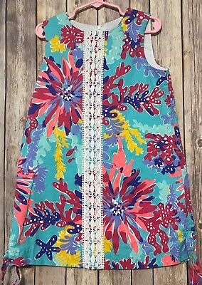 Lilly Pulitzer Girls Trippin & Sippin Shift Dress Summer 6