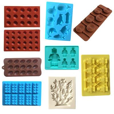 Silicone Cake Decorating Moulds Candy Cookies Chocolate Baking Ice Cube Mold